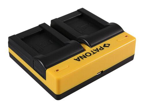 Caricabatteria Patona USB dual per Sony Cyber-shot DSC-H400,DSC-HX300,DSC-HX400