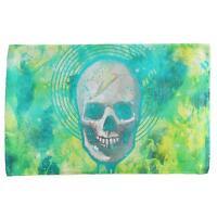 Halloween Lightning Bolt Skull Distressed Plasma All Over Hand Towel