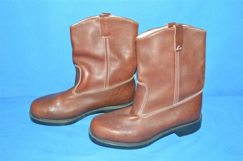vintage 80s WOLVERINE ENGINEER BOOTS BROWN USA MAD