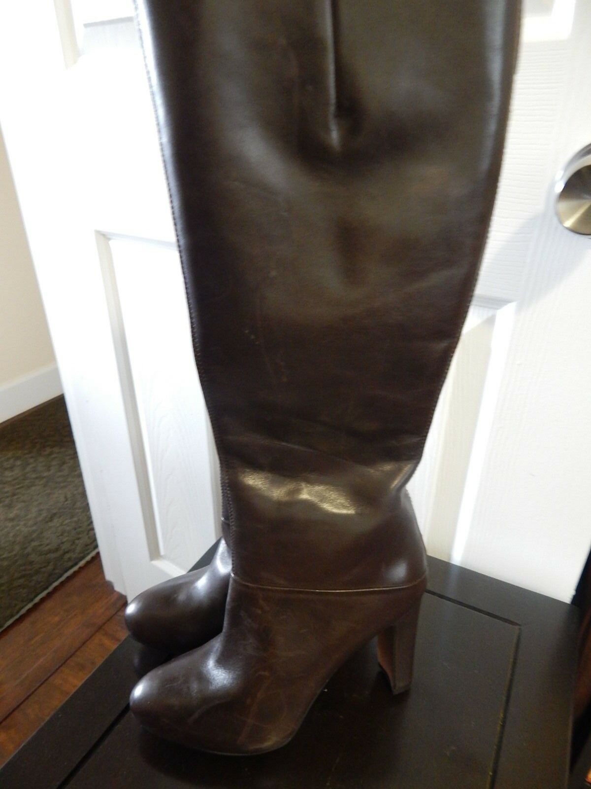 NWOB Nine West GoFish Brown Leather Knee High Boot 6.5 M