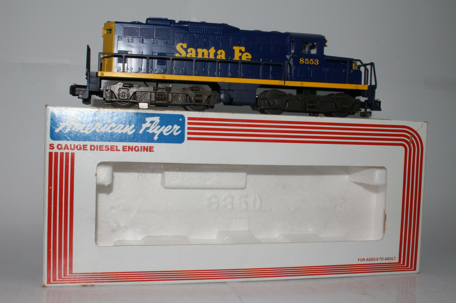 American Flyer Santa Fe GP-9 Motor Diesel Locomotora sin alimentación