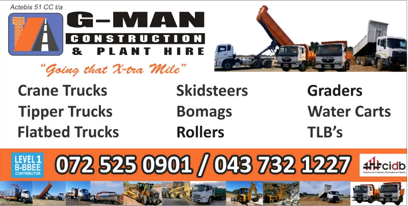 Plant Hire Available
