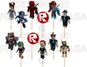 Roblox Cupcake Toppers 12 Or 24 Pc Birhday Party Supplies Made