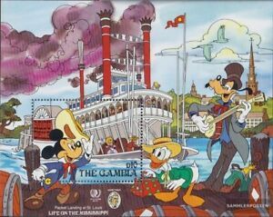 Never Hinged 1985 Walt-disney-f Cheapest Price From Our Site complete Issue Unmounted Mint Kind-Hearted Gambia Block15