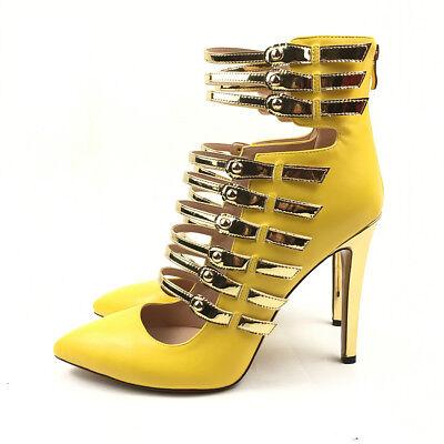 amazing price quality wide range Women High Heel Pumps Gladiator Rome Style Summer Sandals Strappy Bright  Yellow | eBay