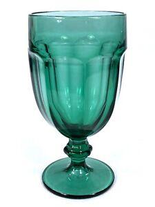 Vintage-Libbey-Duratuff-Gibraltar-Juniper-Green-7-Iced-Tea-Goblet-16-Oz