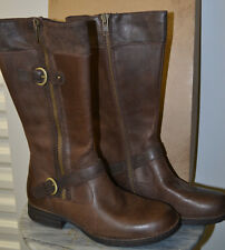 NIB Ladies BORN Crown KENDALL Dark Brown Leather Boots - Size 10
