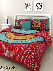 Image Is Loading Indian Rajasthani Traditional King Size Pure Cotton Bed