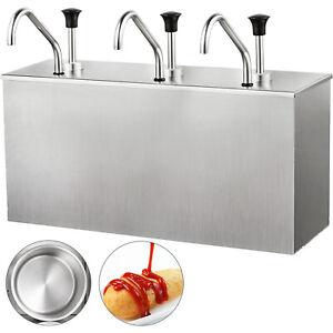 Sauce Pump Dispenser Condiment Pump with 2 Bucket Sauce Dispenser Pump 3.5L*2