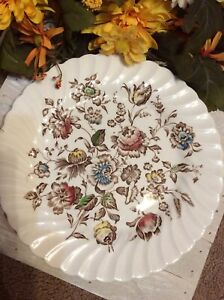 Johnson-Brothers-China-Staffordshire-Bouquet-Dinner-Plates-Set-of-2-Flowers