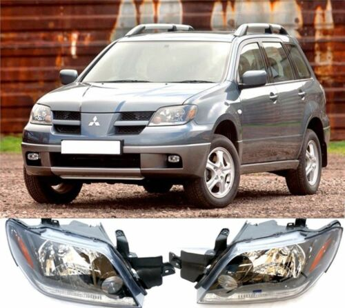 Front Head lamp Headlights Assembly Set 2X For MITSUBISHI Outlander 2003-2005