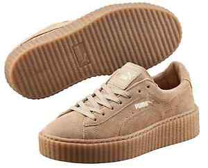 new concept 293b2 46d90 Details about PUMA BY RIHANNA MEN'S SUEDE CREEPER Oatmeal-Oatmeal-Oatmeal  362178-04
