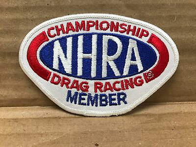 "Collectibles Ingenious Embroidered Nhra Drag Racing Member Jacket Patch 4"" X 2.75"""