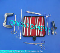 Gynecology Surgical Instruments Sims+collin Speculum Small+hegar Dilators Kit