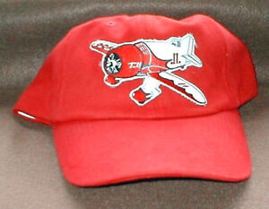GEE BEE Airplane Aircraft Aviation Hat With Emblem Low Profile Red Red/White