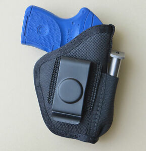Details about Inside Pants IWB Concealment Holster with Mag Pouch for RUGER  LCP & LCP II