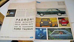 Brochure-Publicitaire-Ford-Taunus-D-039-Origine-Italie-Annees-039-70