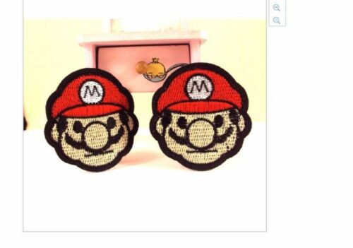 Iron On Mario Bros embroidery patch 6cm x 5.5cm receive 2