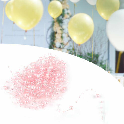 33ft Artificial Pearl Beads Garland String Chain DIY Wedding Table Party Decor
