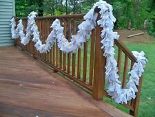Wedding Natural Burlap Lace Ivory Garland 20ft.- Decoration Rastic chic
