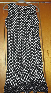 STUDIO-I-sleeveless-Sheer-Polka-Dot-Dress-Size-6
