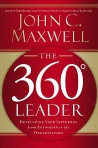 The-360-Degree-Leader-John-C-Maxwell-FREE-SHIPPING-Christian-hardcover-book