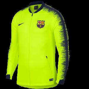 Détails sur 2018 2019 Barcelona Fcb Nike Hymne Entraînement Veste Garçon Jr Survêtement