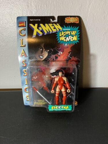 ToyBiz Marvel Comics X-Men Classics Elektra with Light Up Weapon 1996 Action Fig