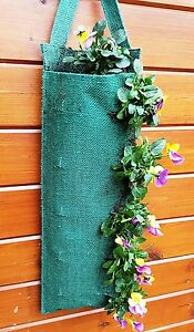 Jute Tomato Strawberry Hanging Planter Flower Pouch