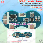 2S 2A Protection Board for 7.4V 8.4V 2 Packs 18650 Li-ion Lithium Battery Cell