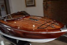 Riva Rama Aquarama 90cm Top Quality Handmade Wooden Display / RC Model Speedboat