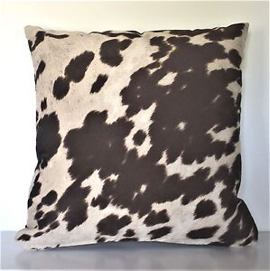 cowhide brown black beige faux fur pony throw sofa pillows western handmade usa eBay