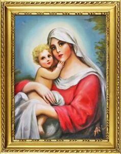 Le Prix Le Moins Cher Religion Marie Main Ölbild Image Peinture Cadre Photos G06292 Art De La Broderie Traditionnelle Exquise