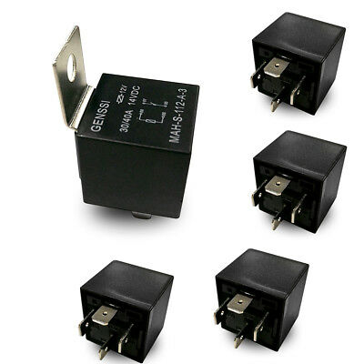 12 Volt 4 Pin SPDT Automotive Relay 30A//40A NO 12V 40-AMP Pack of 2