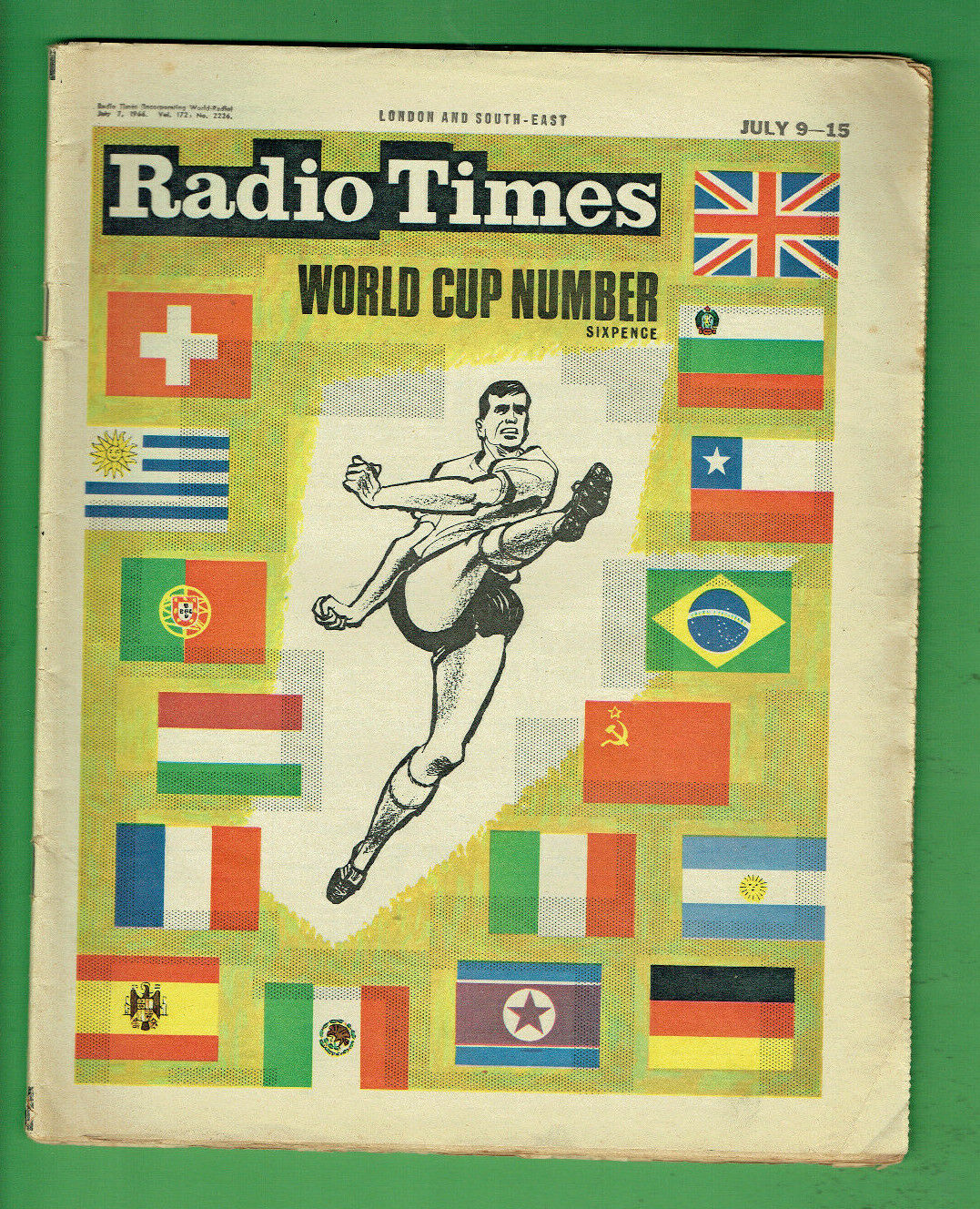 T66.   RADIO TIMES NEWSPAPER - 9-15 7 1966 - SOCCER   FOOTBALL WORLD CUP