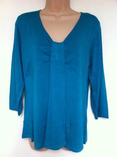 Womens Top Ladies Summer Shirt by Pomodoro New with Tag Turquoise