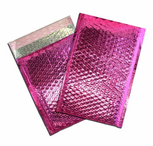 6x10 /& 4x8 Pink METALLIC BUBBLE MAILER 10-100 Lot Business Envelope