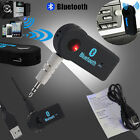 Wireless Bluetooth 3.5mm AUX Audio Stereo Music Home Car Receiver Adapter Mic XG