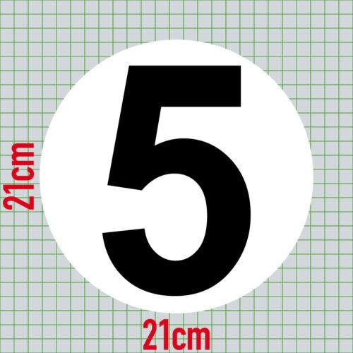 Sonstige 2 Aufkleber 20cm Start Nummer 5 Sticker Ziffer Zahl Racing Auto Motor Sport Kart Kartsport