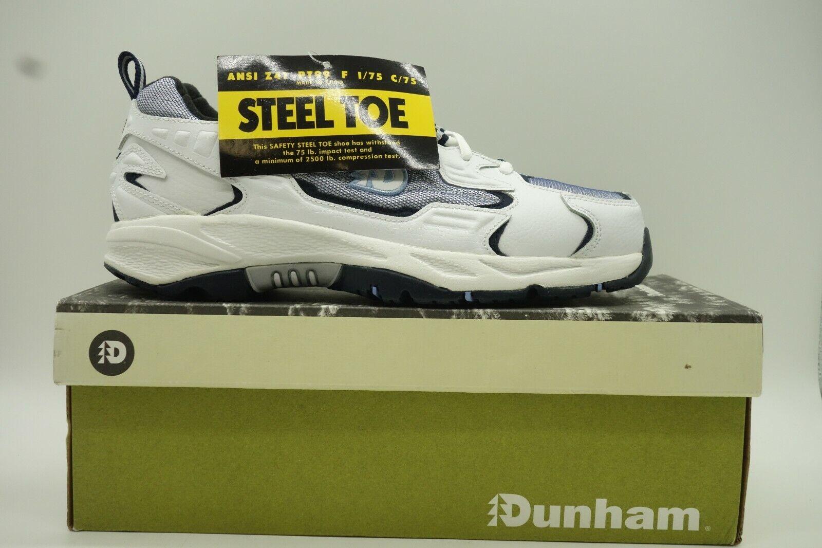 Dunham De Cuero blancoo Con Cordones Puntera De Acero Acero Acero Trabajo Zapatillas Zapatos para mujer 9 D  garantizado