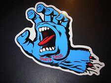 "SANTA CRUZ Skate 3"" Sticker Blue Screaming Hand Logo skateboard helmets decal"