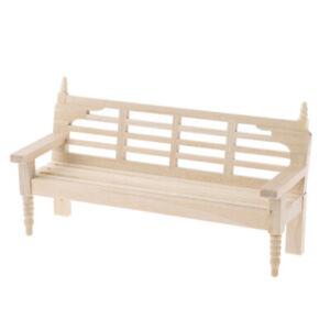 1-12-Dollhouse-Miniature-Mini-Wood-Long-Chair-Model-Furniture-Accessories-YK