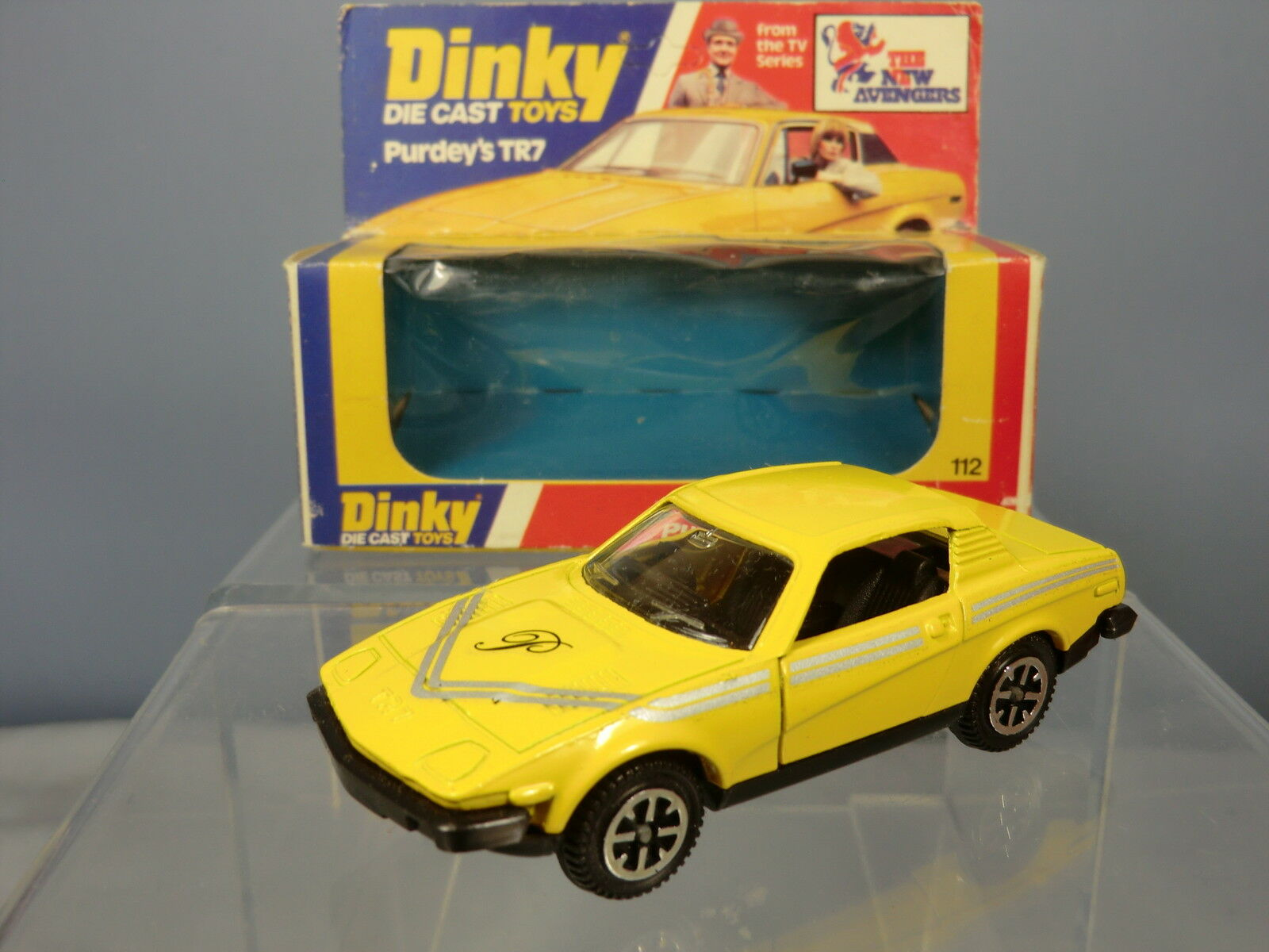 DINKY DINKY DINKY TOYS MODEL No.112  PURDEY'S TR 7  '  THE NEW AVENGERS     VN MIB e61ca5