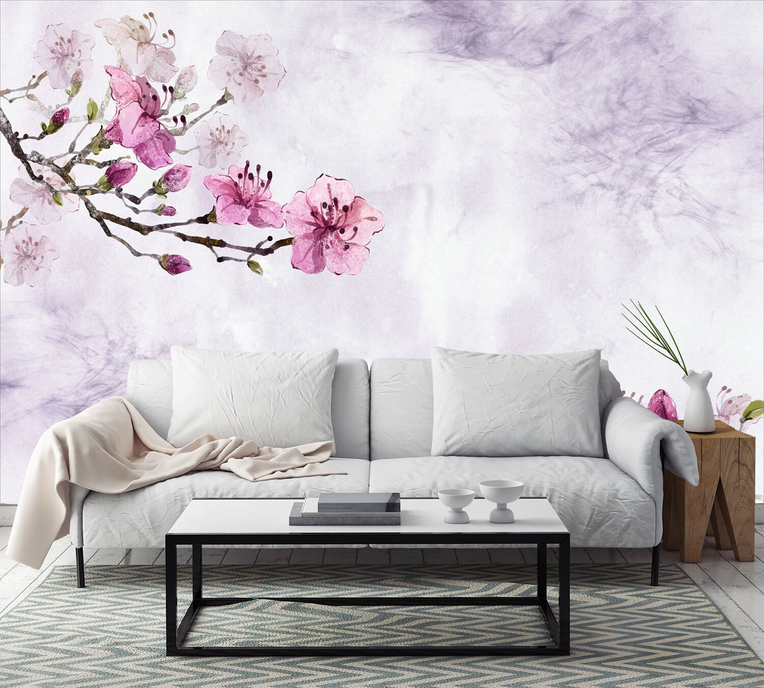 3D Flowers Branches 119 Paper Wall Print Wall Decal Wall Deco Indoor Murals