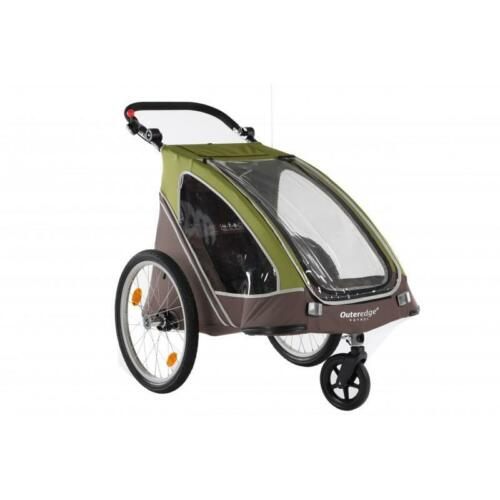 "Outeredge Patrol Alloy Folding 20/"" Wheel Bike Cycle Childs Duo Stroller Trailer"