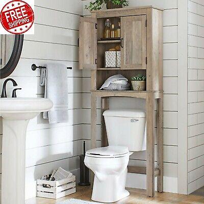 Over The Toilet Storage Cabinet Bathroom Space Saver Organizer Rack Farmhouse Ebay