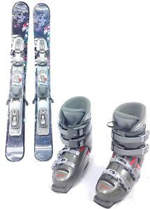 SNOWBLADE-PACKAGE-New-99cm-Snow-Jam-Wave-Ski-Blades-Used-Ski-Bindings-boots