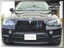 BMW E71 X6 X6M M Look /// Tri Glossy Black Front Grill Grille For 2008-2013