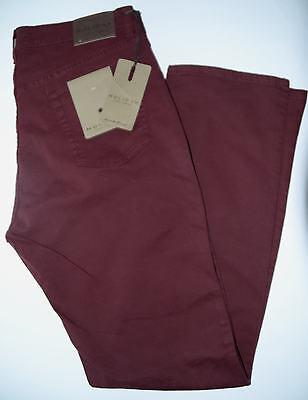 Pantalone uomo jeans TAGLIA 56 gabardina cotone elastico bordeaux HOLIDAY panama