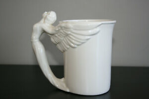 1994-McConnell-Angel-Mug-Cup-Ivory-Angel-Handle-Rare-Angel-art-Mug-China